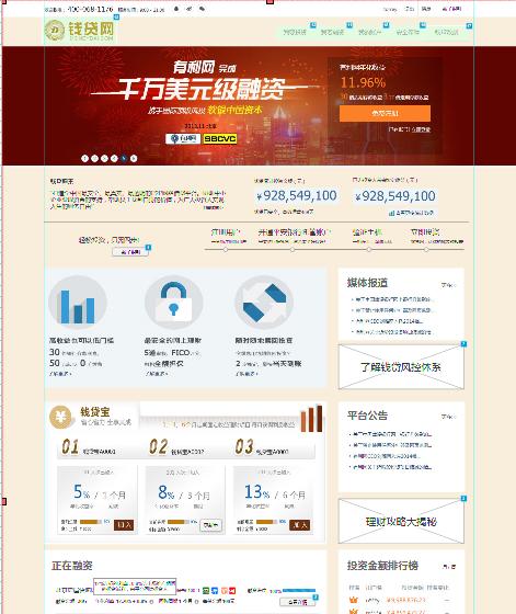 网站建设之网页设计原型图